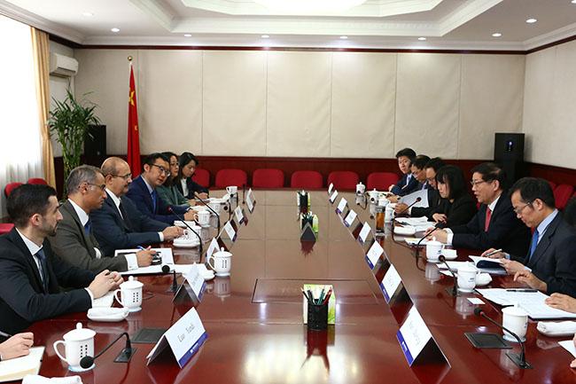 李伟主任会见沙特国际战略伙伴关系中心主任苏盖尔